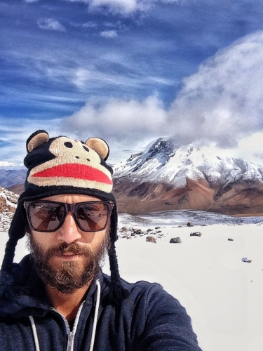 Chachani Mountain Selfie Paul Frank Beanie Hat Peru