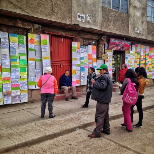 For Rent Wall Listings Puno Peruvian Cultural Quirks