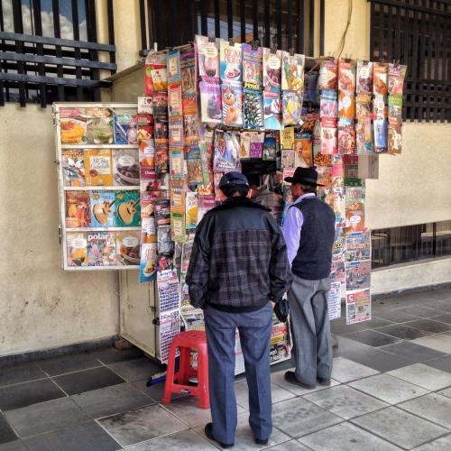 Newspaper Stand Puno Peruvian Cultural Quirks