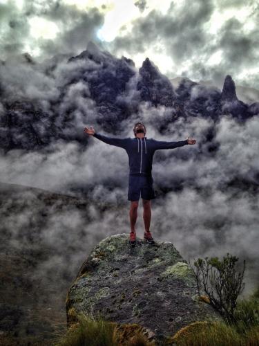 Santa Cruz Trek Clouds Hiking Andrew Peru