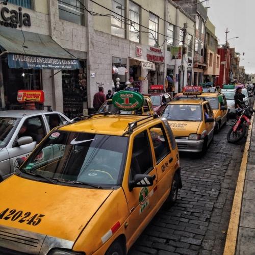 Arequipa Traffic Taxi Peruvian Cultural Quirks