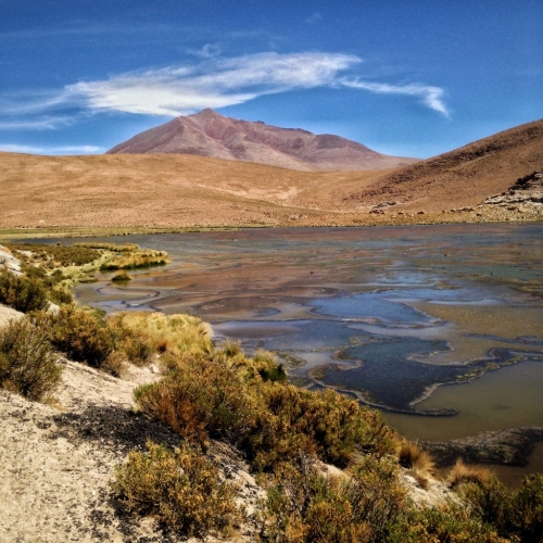 Salar De Uyuni Salt Flats Laguna Lagoon Bolivia