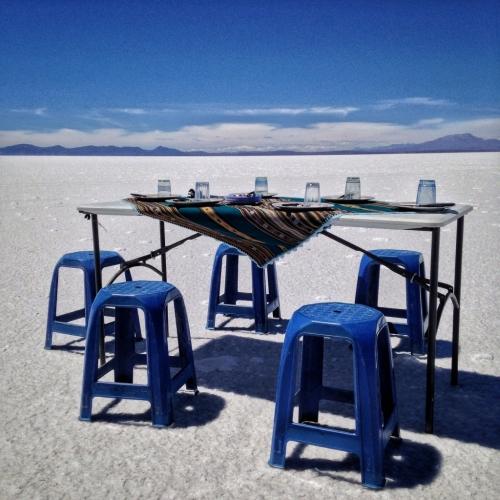 Salar De Uyuni Salt Flats Lunch Bolivia